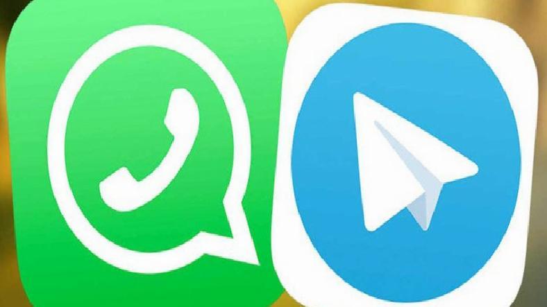 Telegram ve WhatsApp, Twitter'da Birbirine Girdi