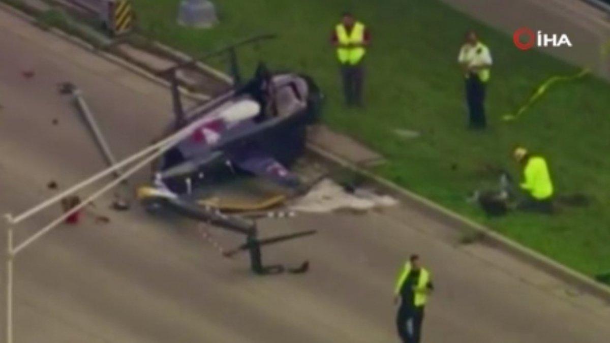ABD'de helikopter yola düştü