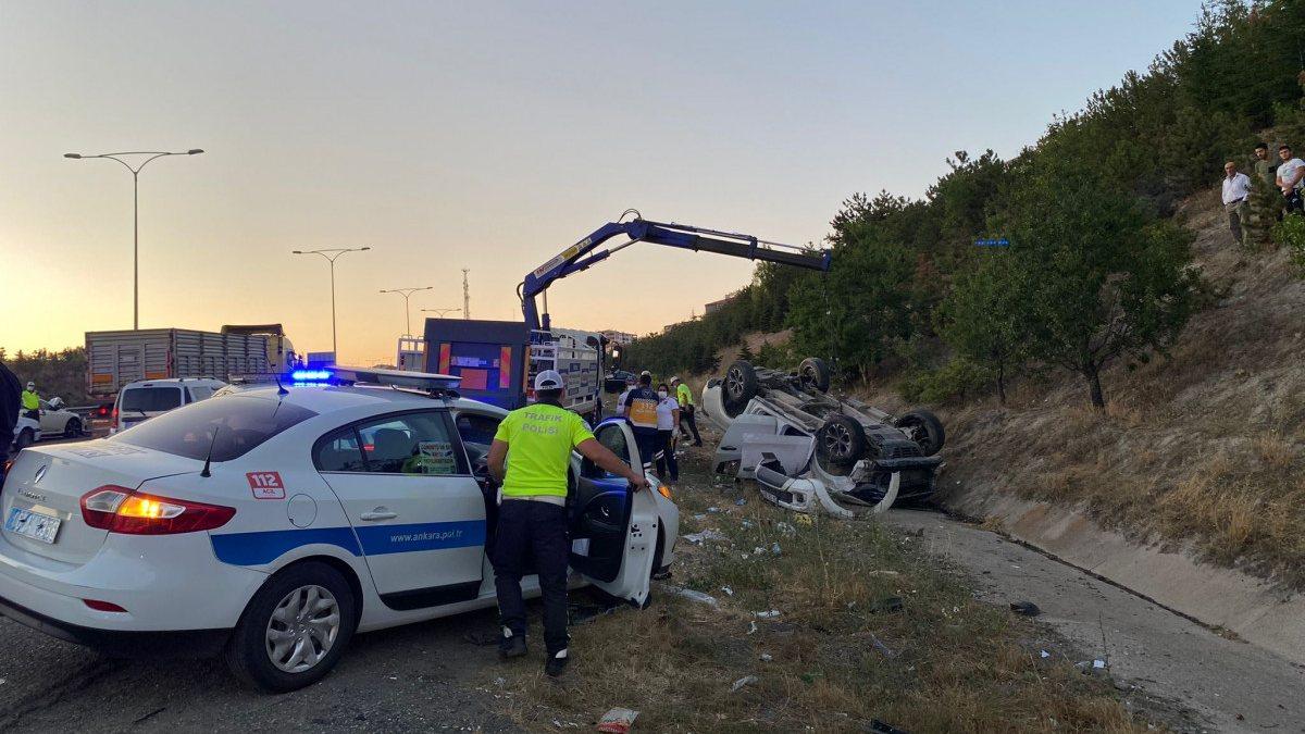 Ankara'da zincirleme kaza: 1 ölü, 8 yaralı