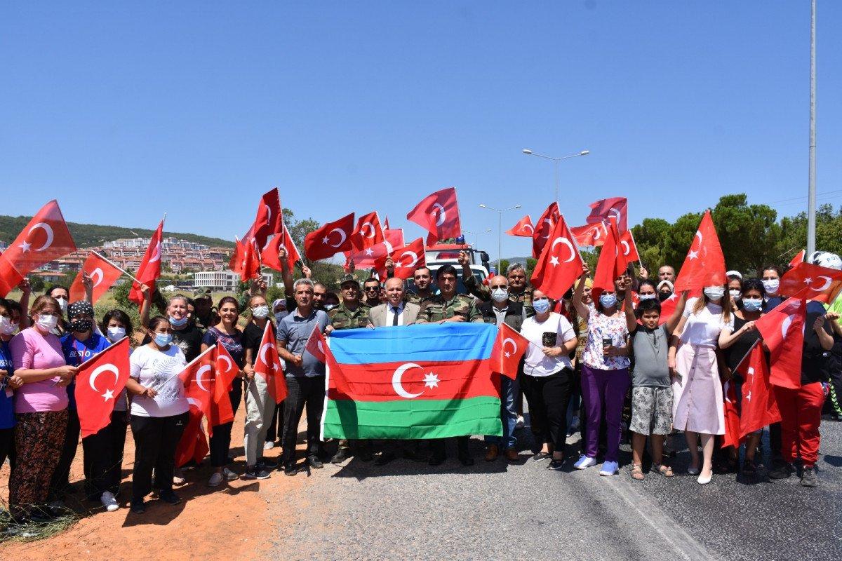 Azeri alev savaşçıları uğurlandı #1