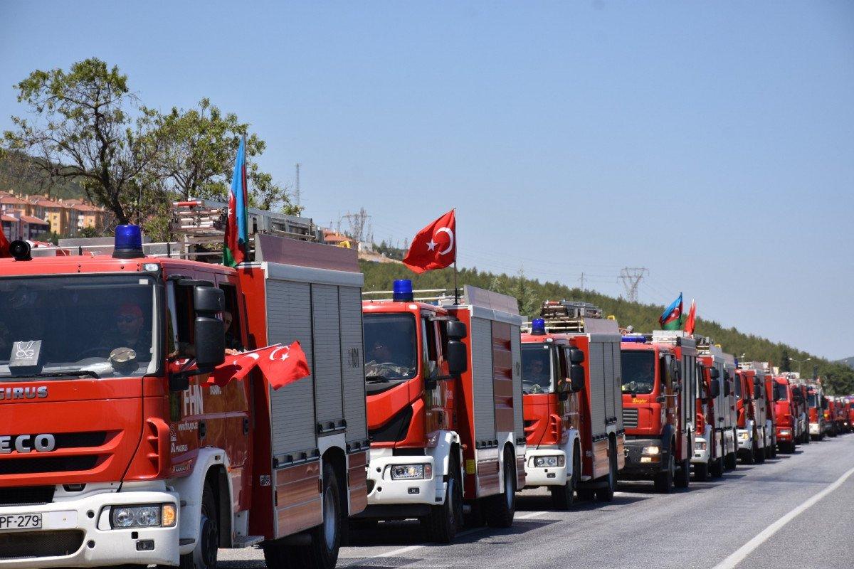 Azeri alev savaşçıları uğurlandı #3
