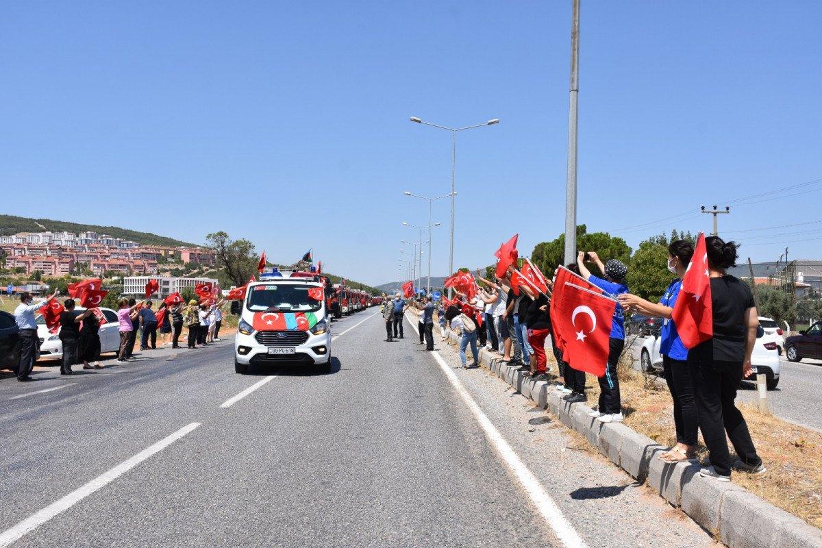 Azeri alev savaşçıları uğurlandı #4
