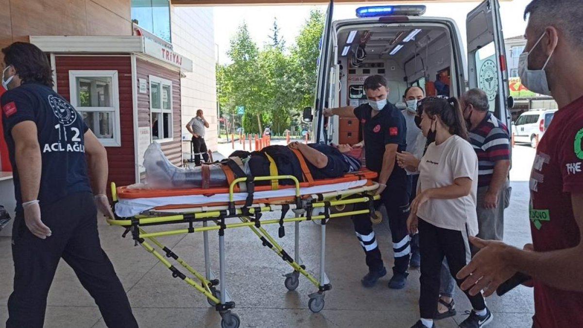 Bursa'da tekstil fabrikasında çalışan kadın işçi yaralandı
