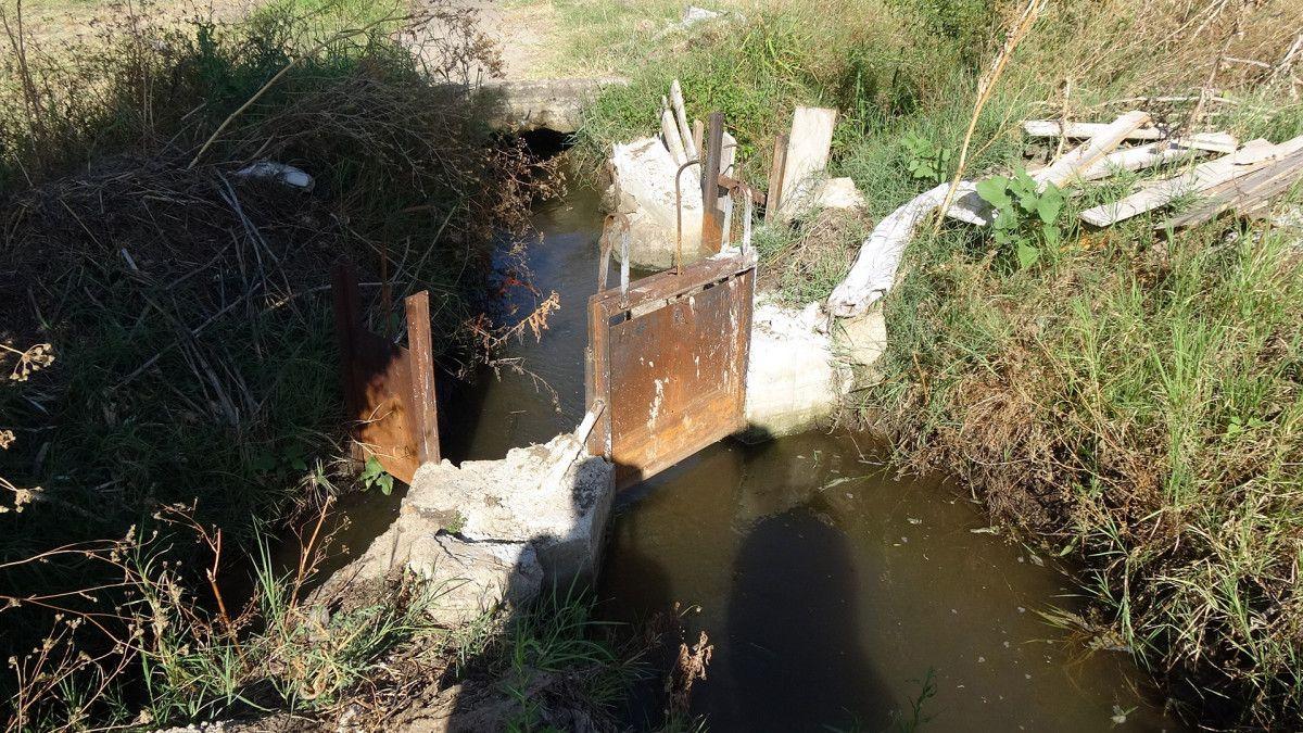 Edirne de sulama kanalı hasarlı olunca köylü zarar gördü #2