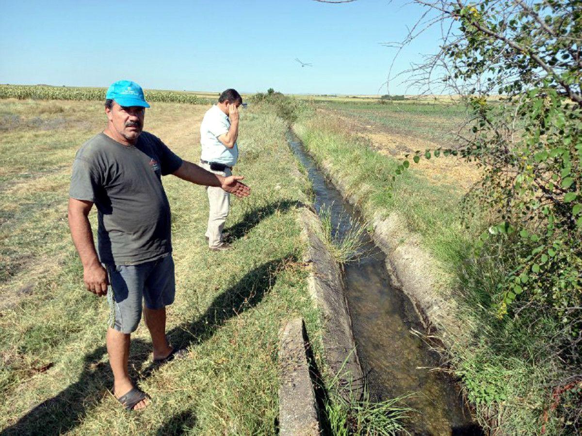 Edirne de sulama kanalı hasarlı olunca köylü zarar gördü #6