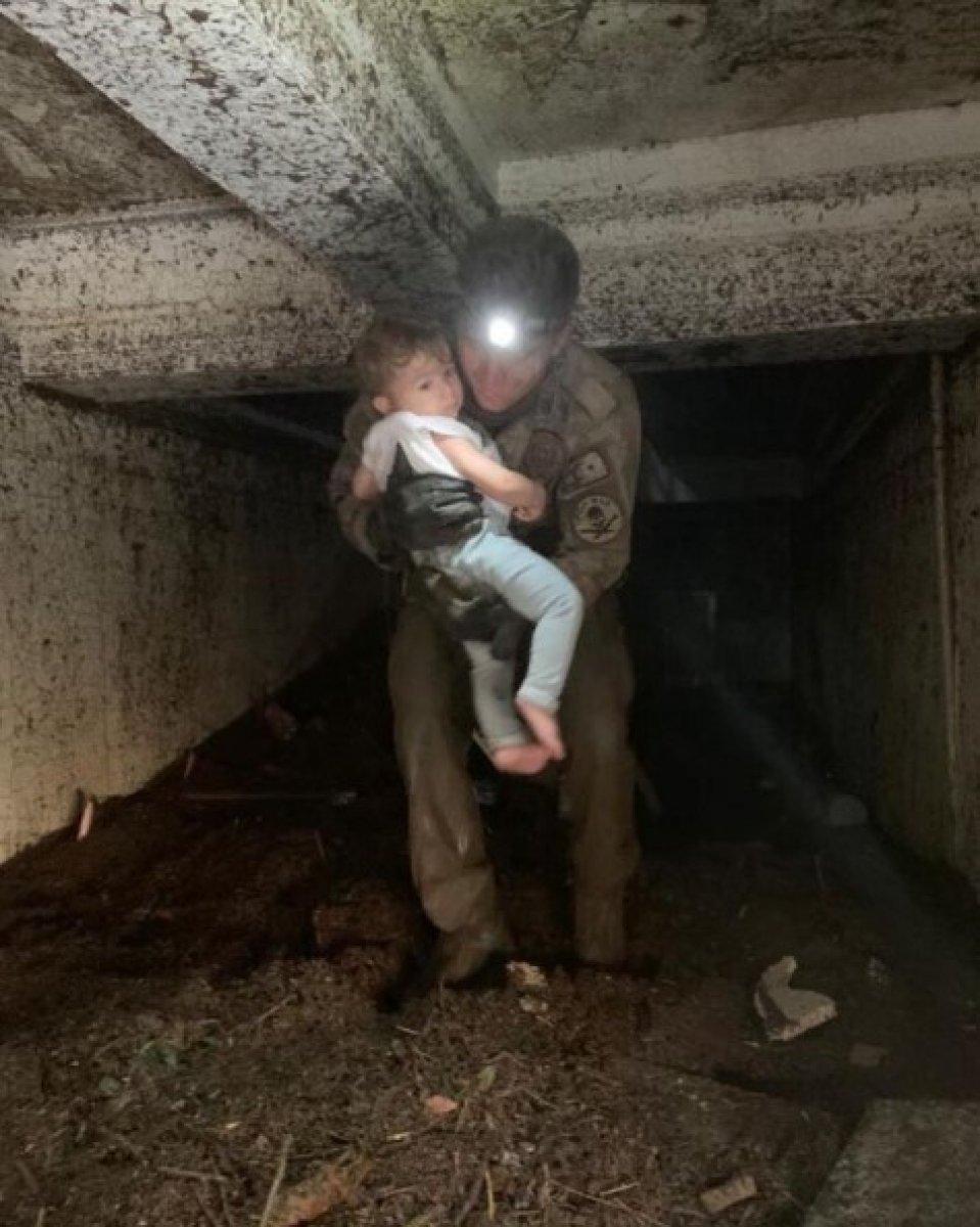 Kastamonu da küçük çocuğun kurtarılma anı #1