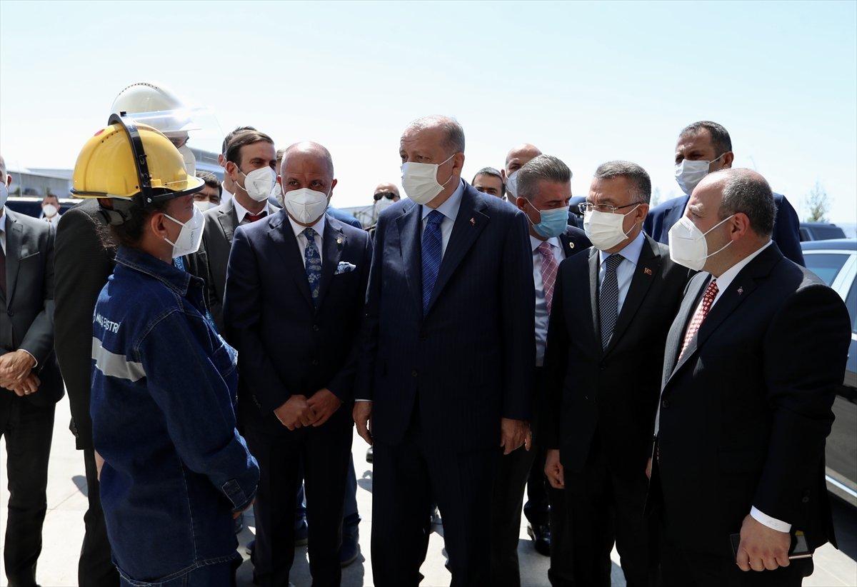 Kaynak ustası Melek, Cumhurbaşkanı Erdoğan ile kaynak yaptı #1