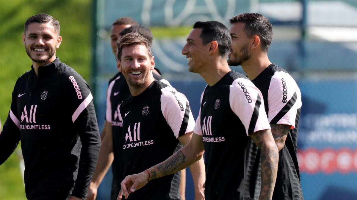 Lionel Messi'nin antrenmanda eğlenceli anları
