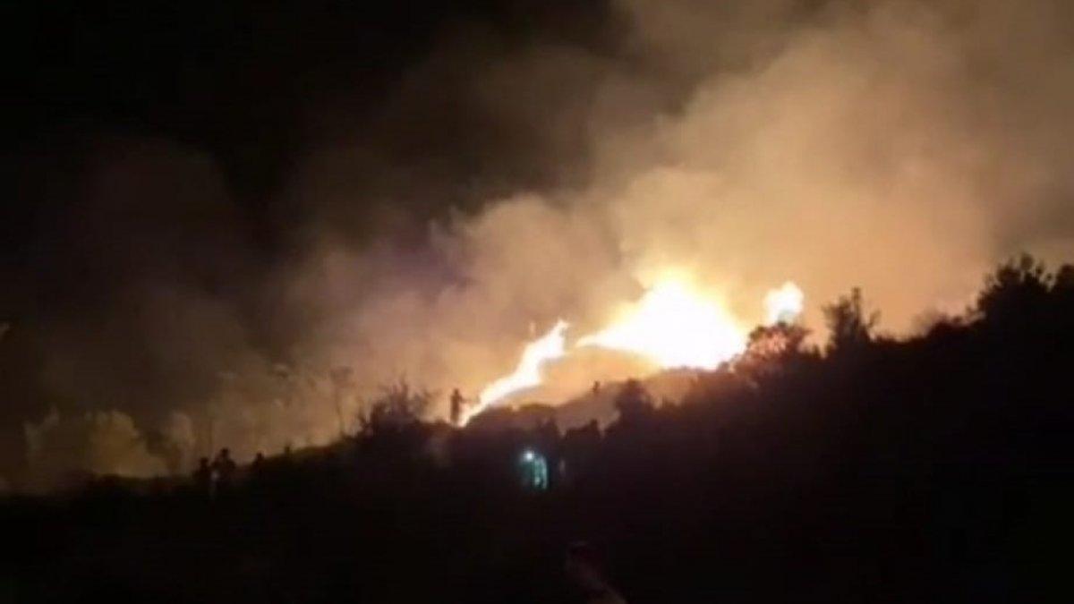 Muğla'da araçta başlayan yangın ormana sıçradı