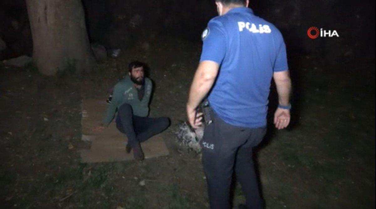 Samsun'da, yaktığı ateş söndürtmemek için direndi #2