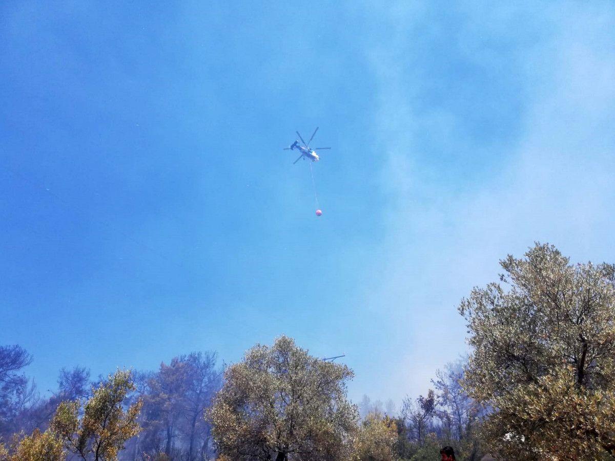 Seydikemer de çıkan orman yangınında 1 hektar alan zarar gördü #2