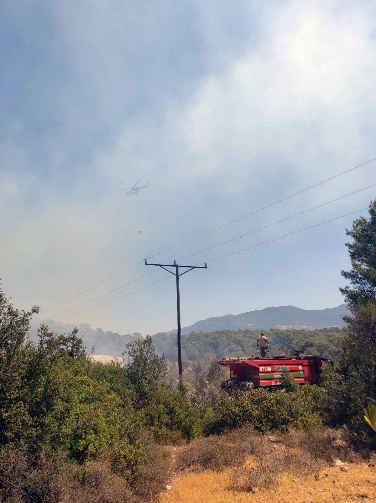 Seydikemer de çıkan orman yangınında 1 hektar alan zarar gördü #3