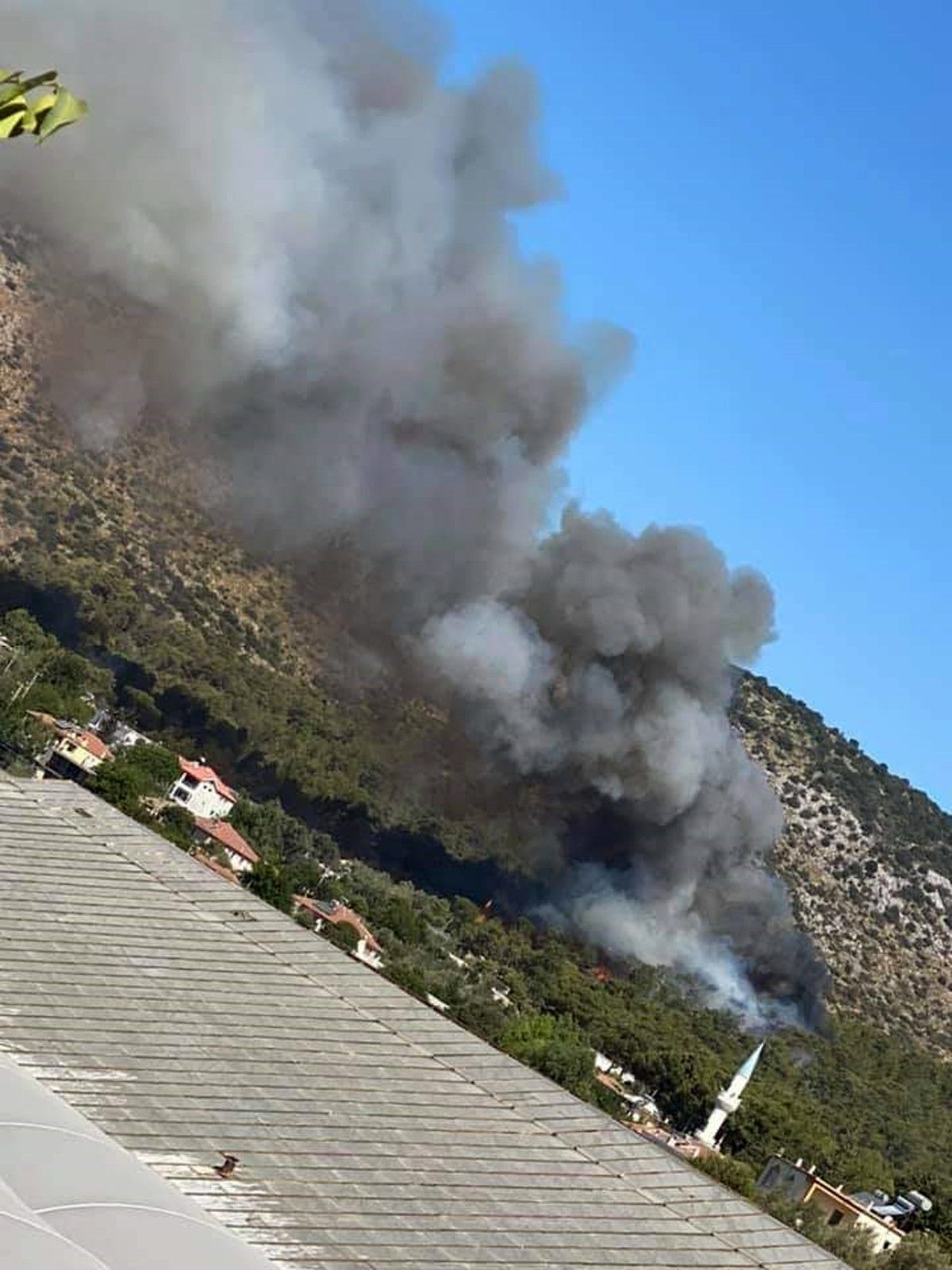 Seydikemer de çıkan orman yangınında 1 hektar alan zarar gördü #5
