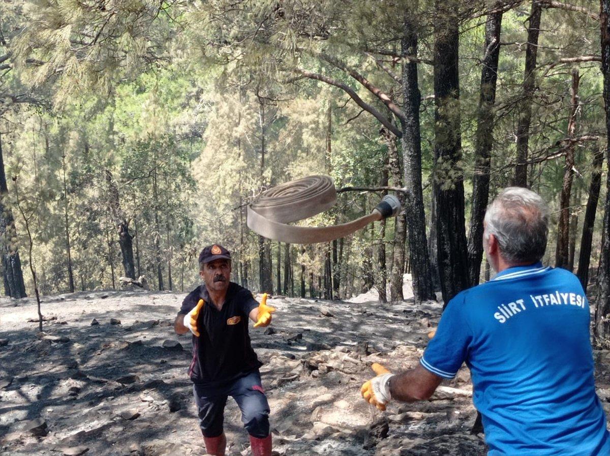 Siirtli itfaiyeciler, Antalya daki yangınlarda yaşadıklarını anlattı #4