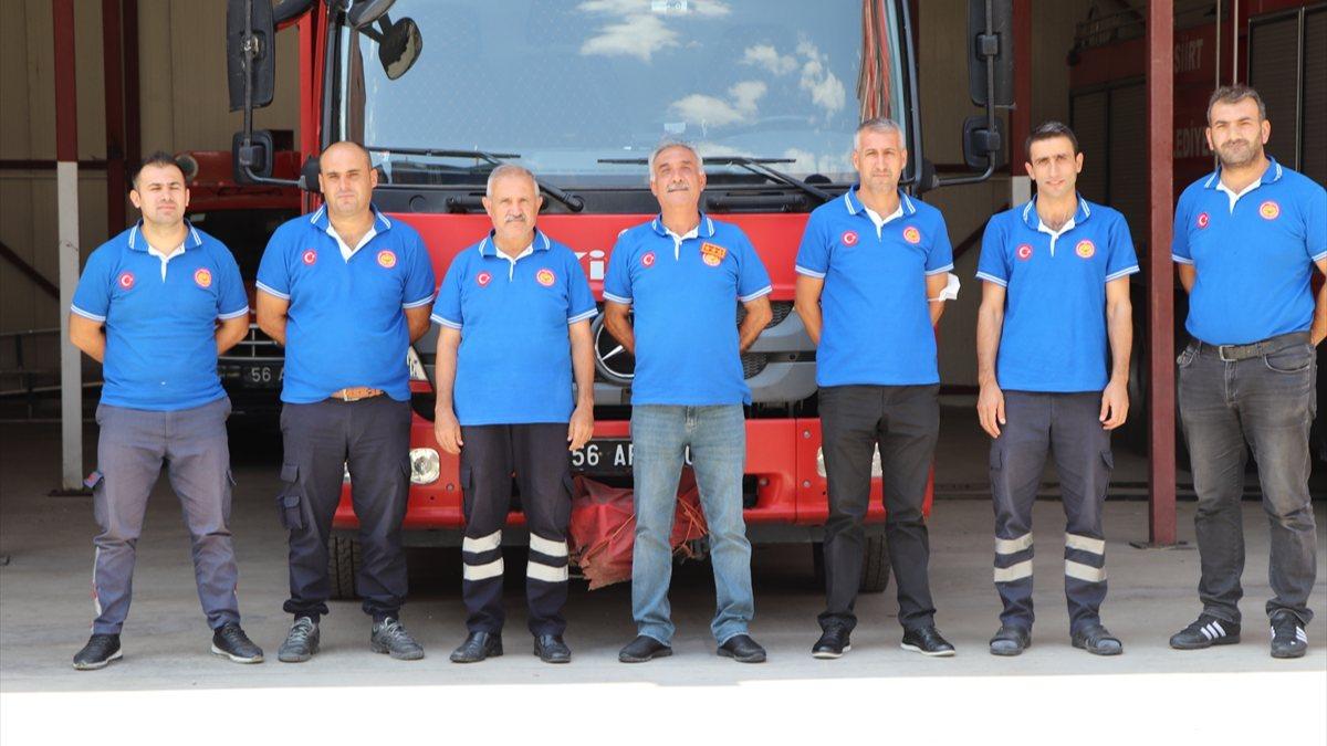 Siirtli itfaiyeciler, Antalya'daki yangınlarda yaşadıklarını anlattı